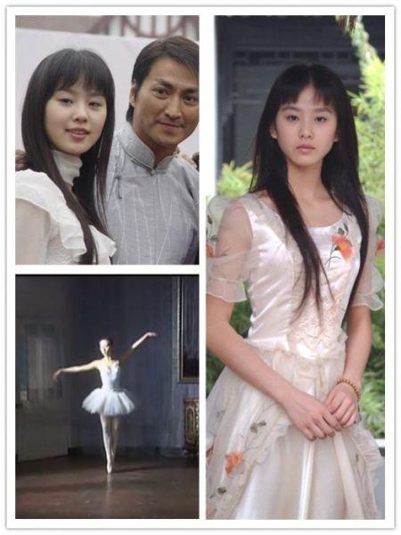 学生时期的刘诗诗开始拍戏
