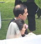 新娘郭晶晶随父入场
