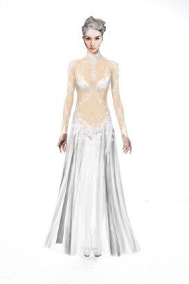 白蛇服装设计图