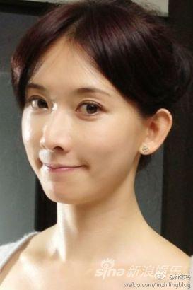 林志玲微博中晒出的可爱照片