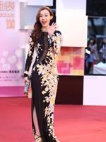 范玮琪中国风长裙亮相