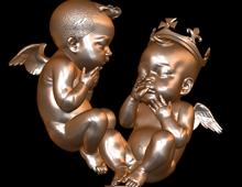 艺术家丹尼尔送凯特婴儿雕塑