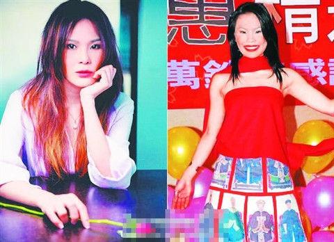 周蕙宣传美照(左)与往日照片对比 图片来源:姑苏晚报