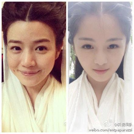陈妍希和替身对比照