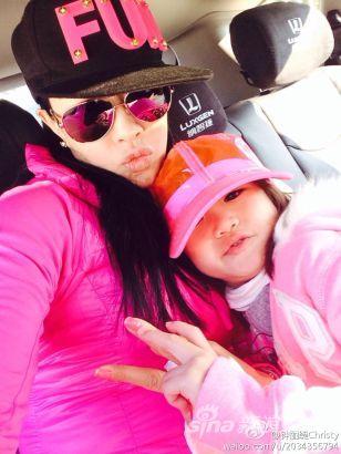 粉色母女装