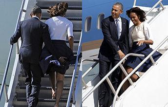 奥巴马捂米竭尔裙子