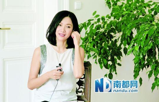 徐静蕾接受采访