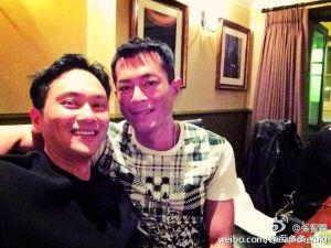 张智霖与古天乐自拍照被嫌丑。