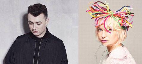 才女Sia和同道歌手Sam Smith