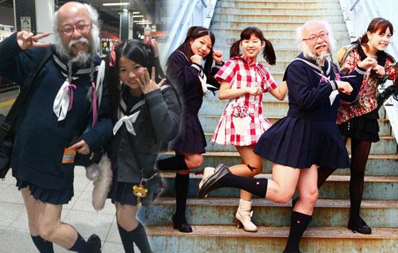 视频:日本62岁大叔穿水手服扮萝莉爆红