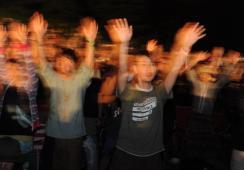 富士音乐节第2日电气化时代的尖叫高潮(组图)