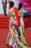 组图:众女星华服盛装争艳百花奖闭幕红毯