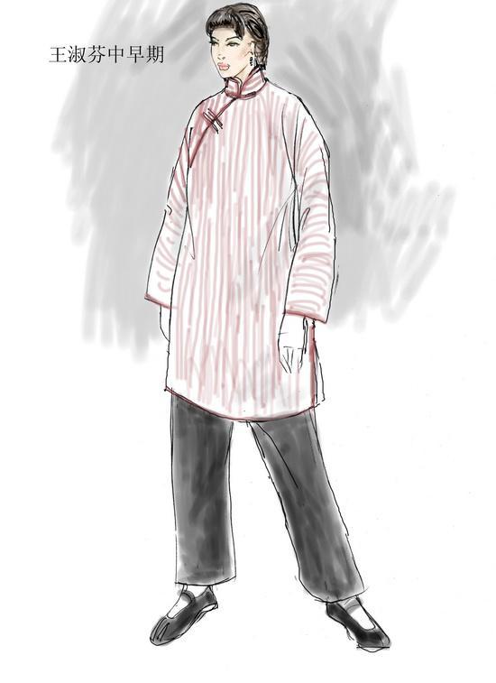 资料图片:电视剧《茶馆》服装设计图(12)图片