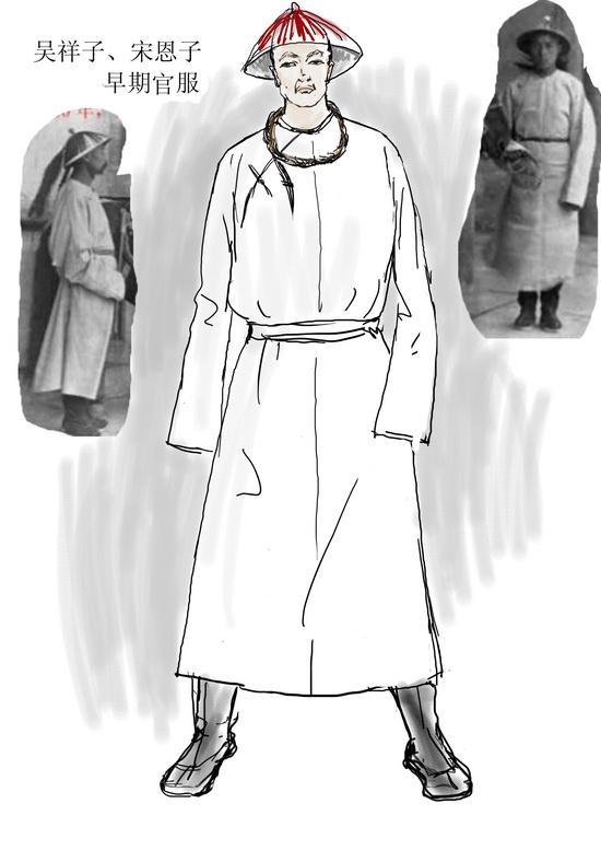 资料图片:电视剧《茶馆》服装设计图(25)图片