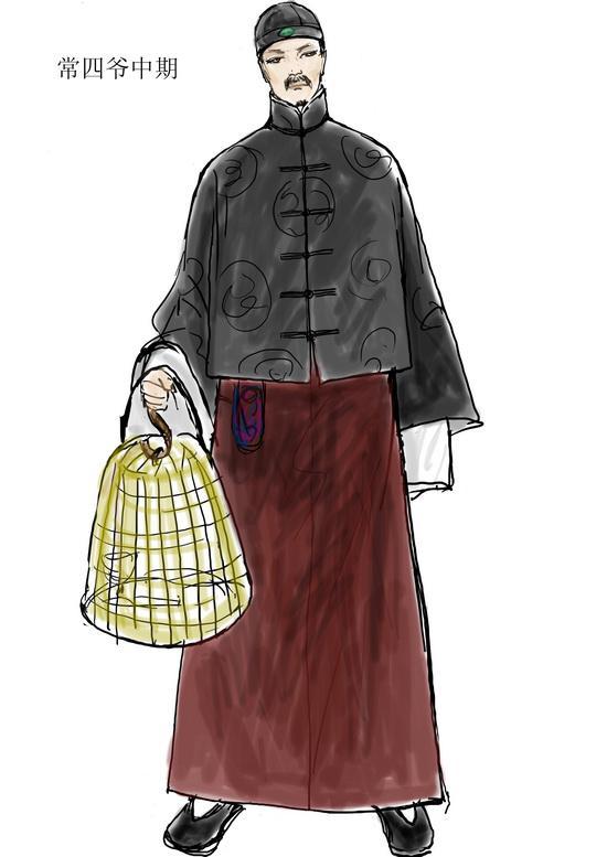 资料图片:电视剧《茶馆》服装设计图(64)图片