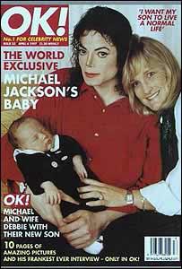 资料图片:杰克逊第二任妻子--登上OK杂志