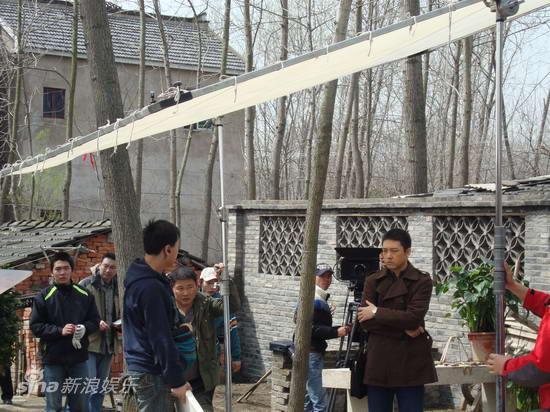 资料图片:电视剧《村支书》拍摄现场(1)