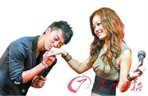 林峰在廣州對容祖兒行吻手禮