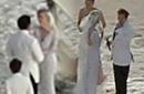 德普婚礼照新娘唯美