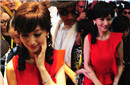 赵雅芝穿红裙娇媚动人
