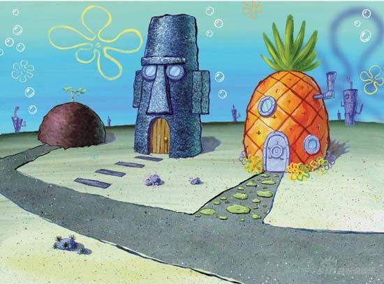 在太平洋海底深处,有一座叫比基尼海底的城市,在那里居住着一只方形的黄色海绵。这只海绵非常爱好去围捕水母(没有比享用水母三明治更好多午餐了)。它的名字叫做穿正方形裤子的海绵鲍勃。海绵鲍勃住在一个菠萝屋里,他的朋友蜗牛加里与他住在一起。海绵鲍勃总是非常乐观,有着崇高的动机,但总是很容易就为自己招惹麻烦。无论他走到哪里,他的朋友海星总是跟随在后。他们俩总是给他的同事兼邻居的章鱼制造破坏。
