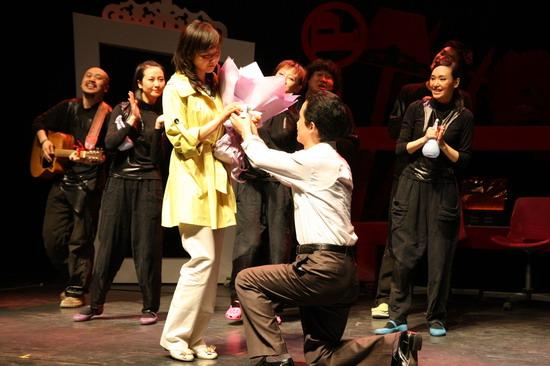 话剧《达人》二轮首演现场求婚收声一片(图)