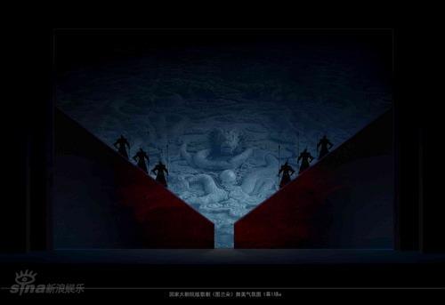 资料图片:《图兰朵》舞美概念-1幕1场