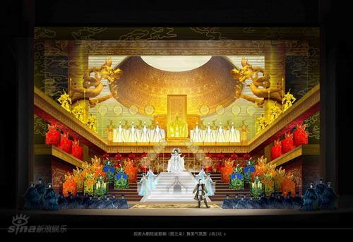 资料图片:《图兰朵》舞美概念-2幕2场