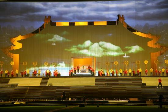 图兰朵首次联排影像与表演的一致是彩排重点