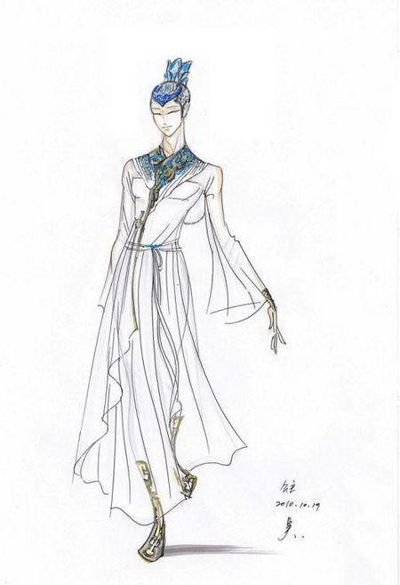 资料:舞剧《马可-波罗》服装设计-公主