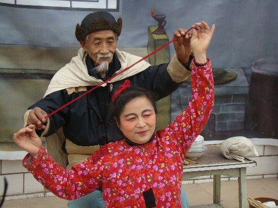河北秦皇岛农民版《白毛女》
