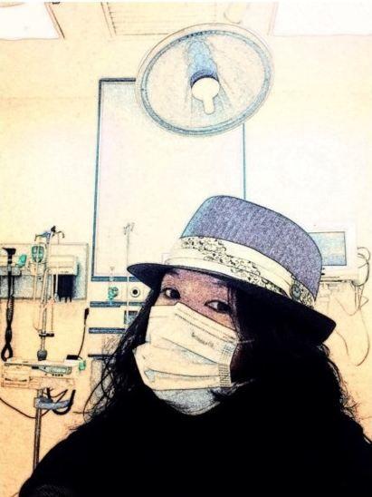 章子怡上医院就诊