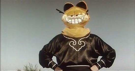 图文:周星驰电影之最拉风造型--蒙面加菲猫