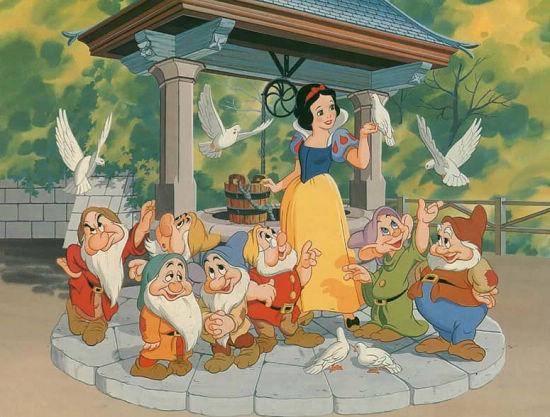 世界电影史上第一部动画电影《白雪公主》