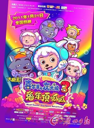 粤语版 喜羊羊 更搞笑 电影版第三部将上映