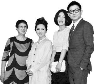 左起:许鞍华、叶德娴、秦海璐和刘德华出席了威尼斯首映 CFP 图