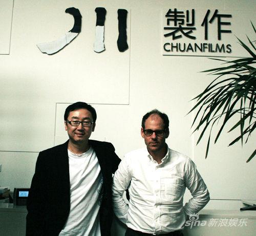 陆川与二十世纪福斯国际制作公司总裁合影