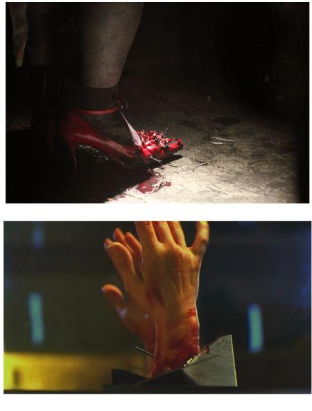 《追凶》剧照(上)与《电锯惊魂》对比剧照(4)