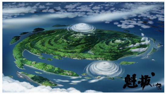 涡流岛鸟瞰图