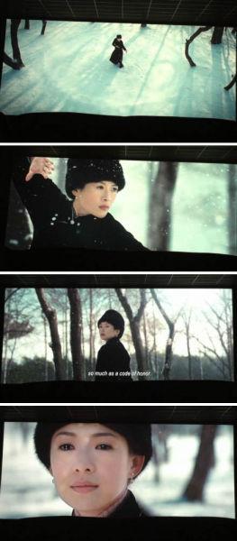 此次《一代宗师》在戛纳曝光片段,章子怡的造型也随之曝光