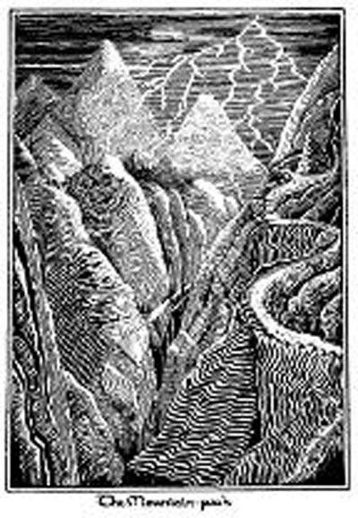 《霍比特人》书中的插画是对故事情景的最初展示