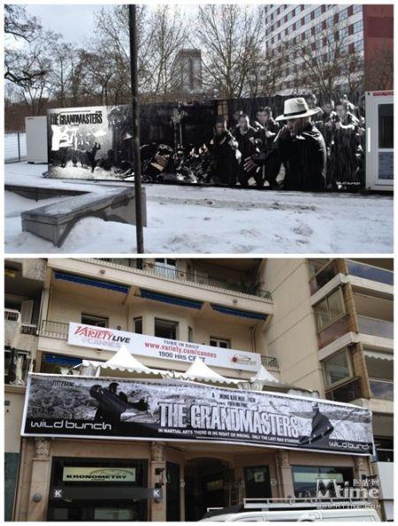《一代宗师》在柏林(上)和戛纳(下)的户外广告