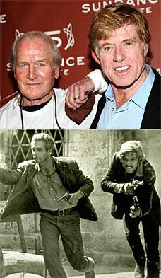 保罗纽曼与搭档罗伯特雷德福25年后再聚首(图)