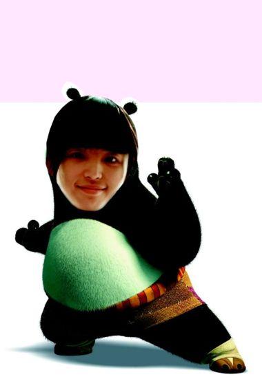 熊猫背影头像卡通