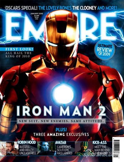 《钢铁侠2》成《帝国》2010年1月号封面(图)