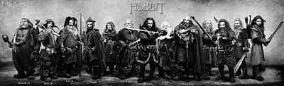 《霍比特人》公布13矮人全家福
