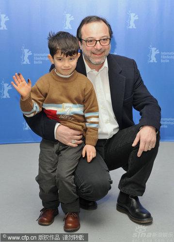 组图:《蜂蜜》发布会7岁小演员成最大明星