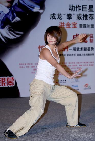 图文:《武术》首映--王菲亦有功夫