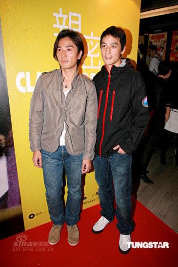 图文:《亲密》香港首映--郑伊健(左)吴彦祖