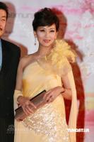组图:赵雅芝着亮黄色长裙与老公黄锦�隽料�
